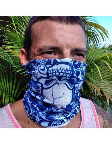 Ocean Surfari Water Print, Blue Sun Shield Buff