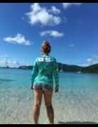 Ocean Surfari OS SPF 50+ Performance Lad LS Teal Water