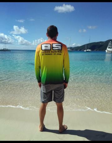 Ocean Surfari OS SPF 50+ Performance Men's LS Rasta