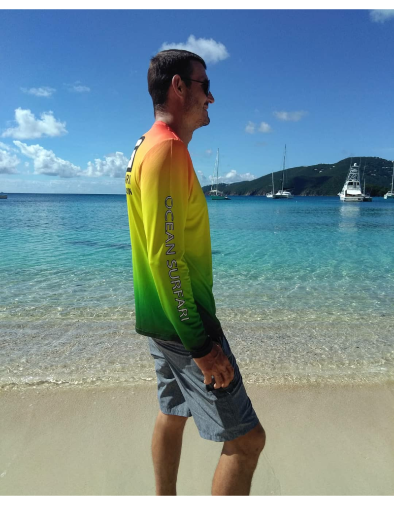 Ocean Surfari OS SPF 50+ Performance Men's LS Rasta