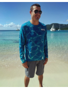 Ocean Surfari OS SPF 50+ Performance Men's LS Blue Water
