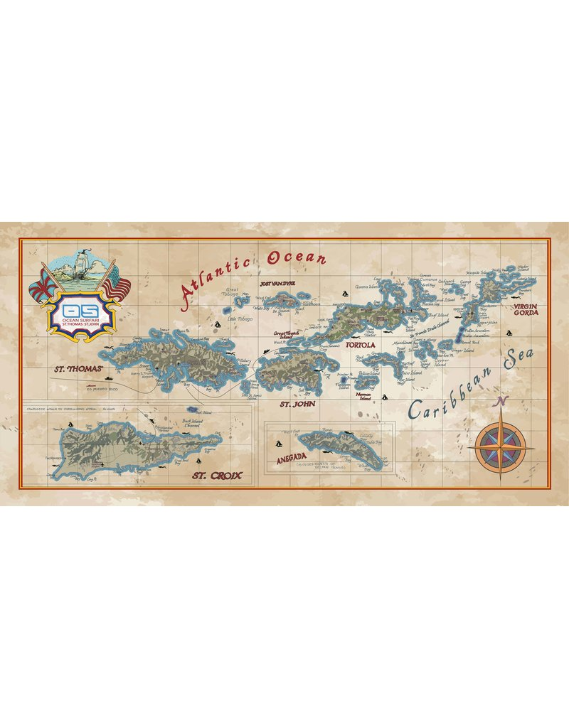 Ocean Surfari VI Map Towel