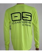 Ocean Surfari OS SPF 50+ Performance Men's LS Neon Yellow