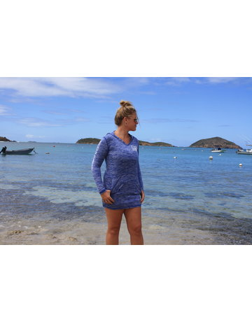 Ocean Surfari OS SPF 50+ Performance Lad Hooded Cover UP Royal