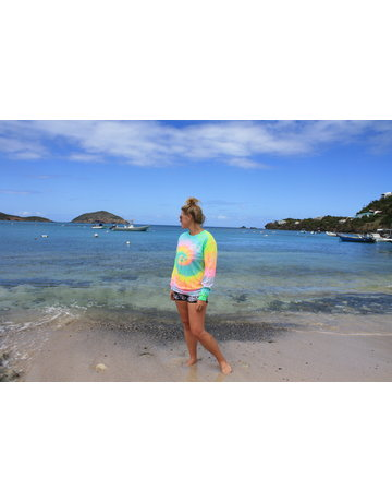 Ocean Surfari LS Cotton Misty Rainbow
