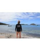 Ocean Surfari OS SPF 50+ Performance Lad LS 1/4 Zip Black