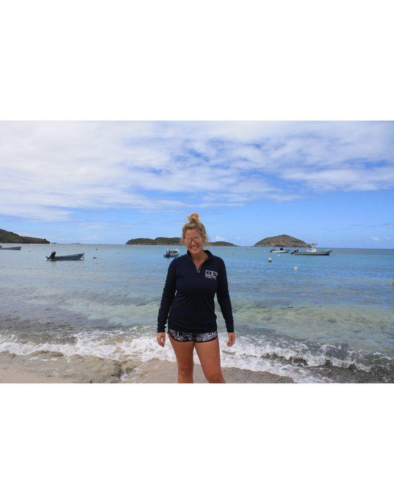 Ocean Surfari OS SPF 50+ Performance Lad LS 1/4 Zip Navy