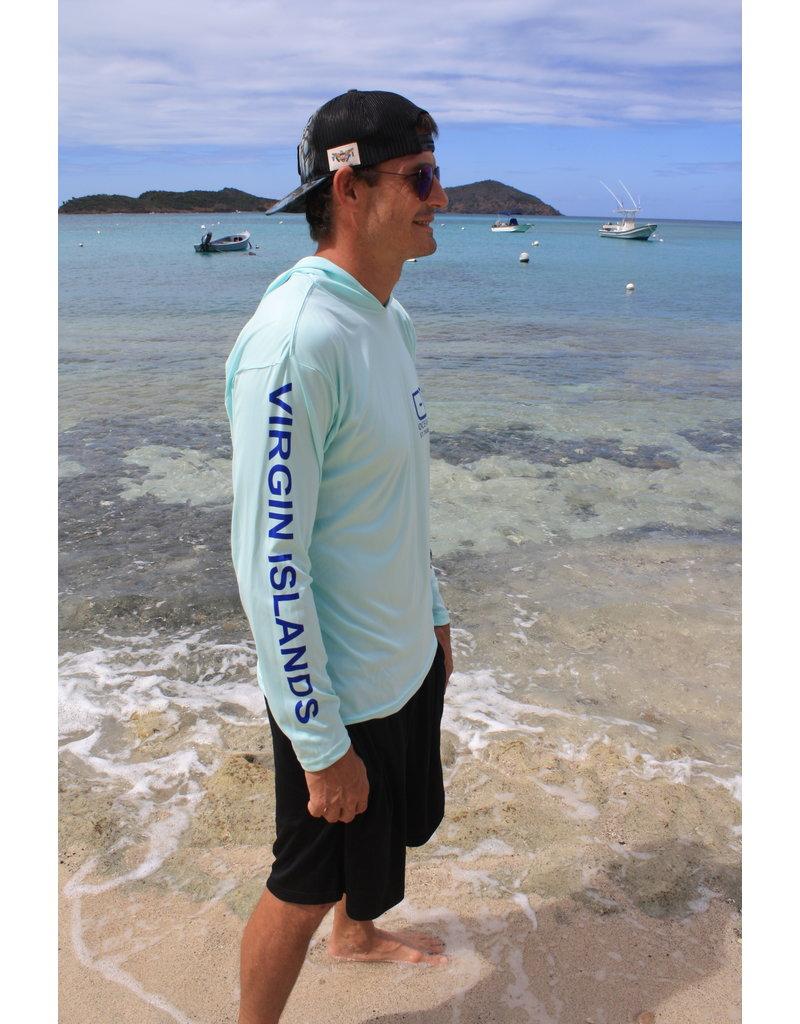 Ocean Surfari OS SPF 50+ Performance Men's Hoodie Sushi Roll Seafoam