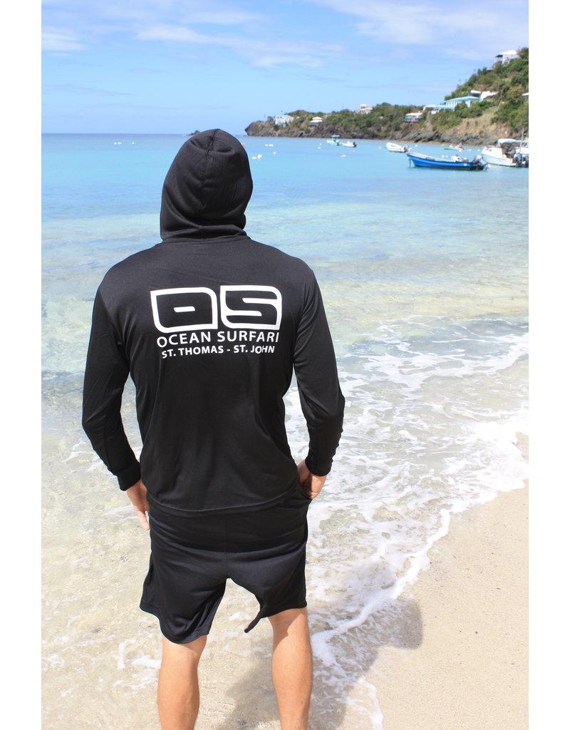 OS SPF50+ Performance Men's Black Hoodie