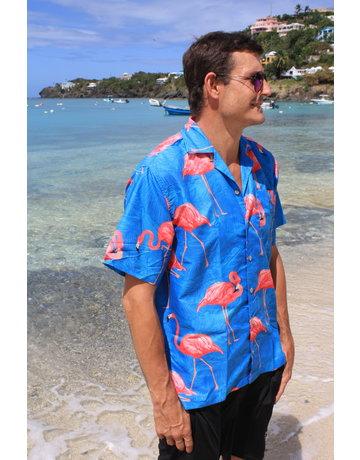 Uzzi Uzzie Button Down Flamingo Yellow