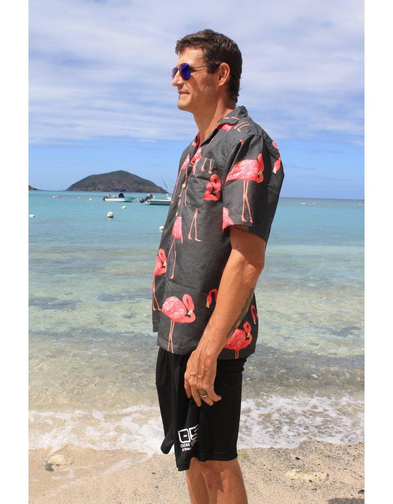 Uzzi Uzzie Button Down Flamingo Black