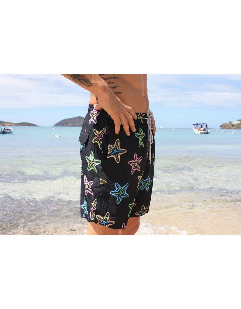 Uzzi Uzzi Swim Trunk Black Starfish