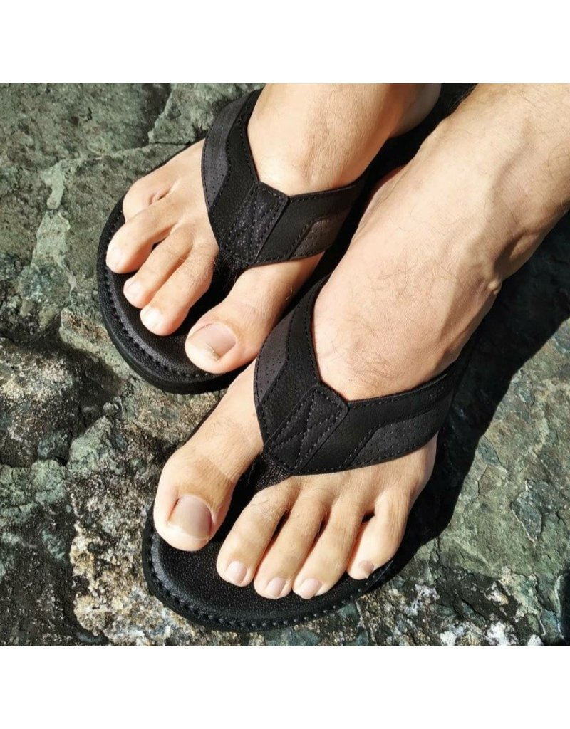 Ocean Surfari Vegan Surf 7 Flip Flop Black