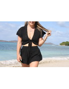 Ocean Drive Fashion Top Black Eyelet Embroidery