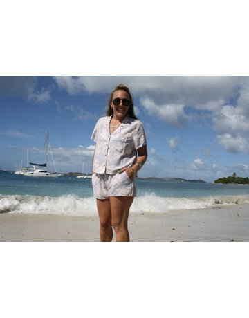 Ocean Drive Fashion Shirt Jasmine Tropical Print