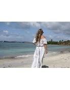 Ocean Drive Fashion Off Shoulder Top Lilac Summer Strip