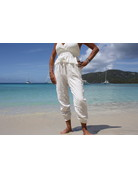 Ocean Drive Fashion Pant Washed Texture White