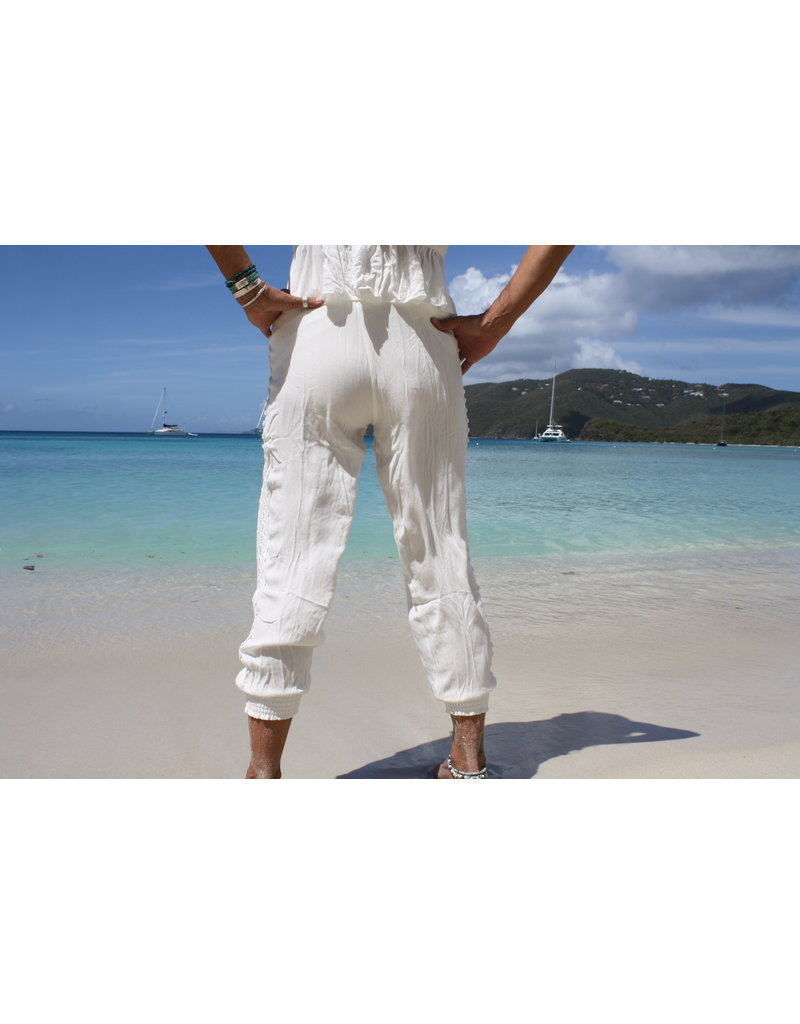 Ocean Drive Fashion Jogger White Crochet