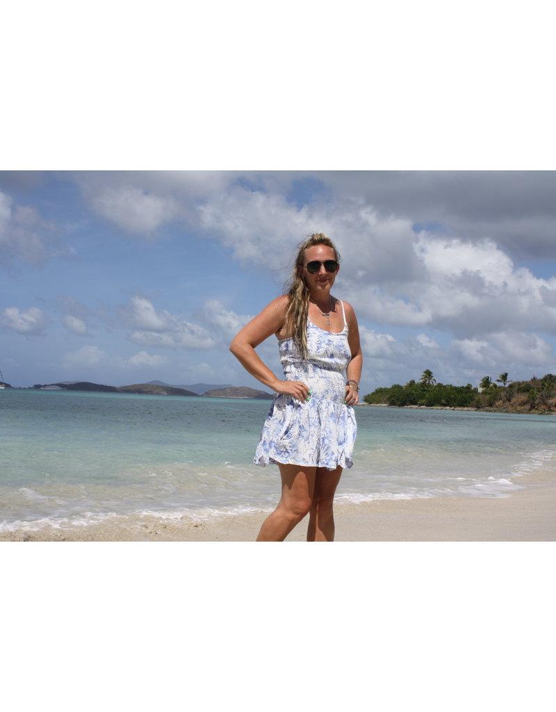 Ocean Drive Fashion Dress Tri Color Ombre Tie Dye