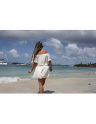 Ocean Drive Fashion Mini Dress White Crochet