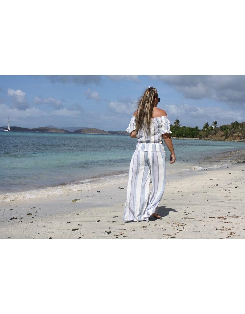 Ocean Drive Fashion Pant Lilac Summer Stripe