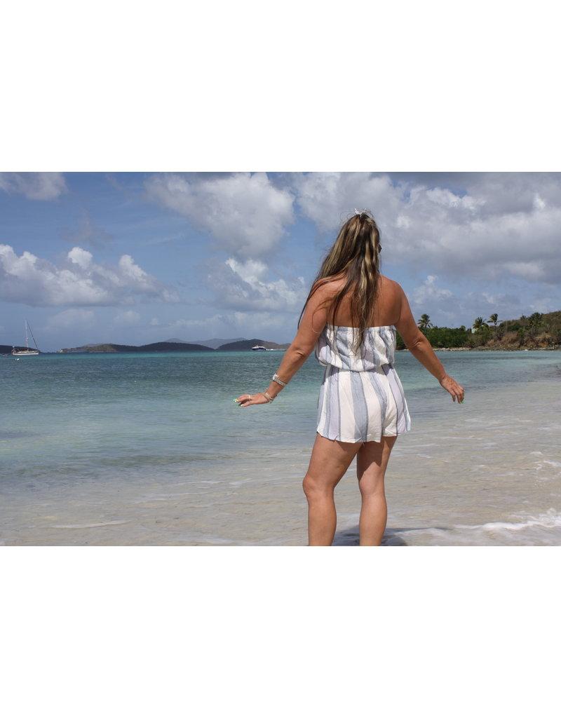 Ocean Drive Fashion Romper Lilac Summer Strip