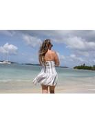 Ocean Drive Fashion Dress Lilac Summer Stripe
