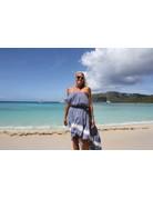 Ocean Drive Fashion Dress Dusty Denim Tie Dye