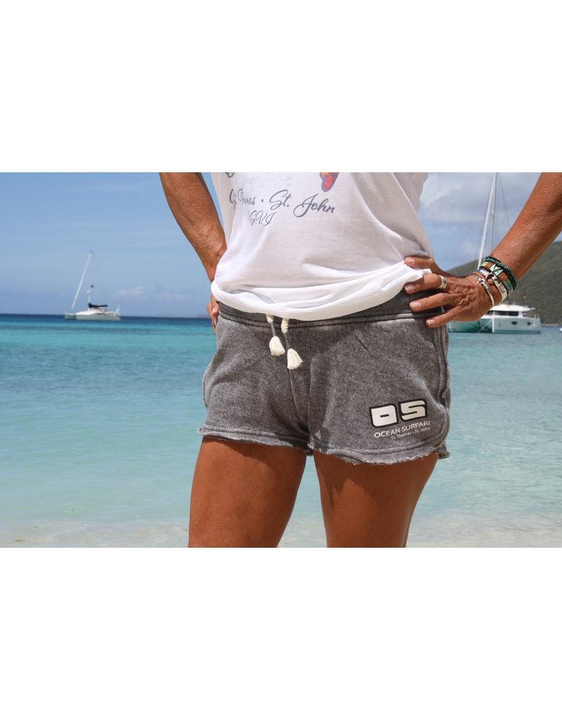 Ocean Surfari Ladies Burnout Short Grey