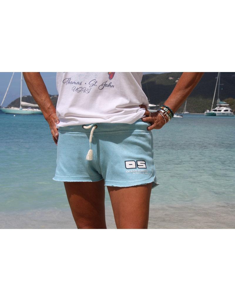 Ocean Surfari Ladies Burnout Short Bermuda Blue