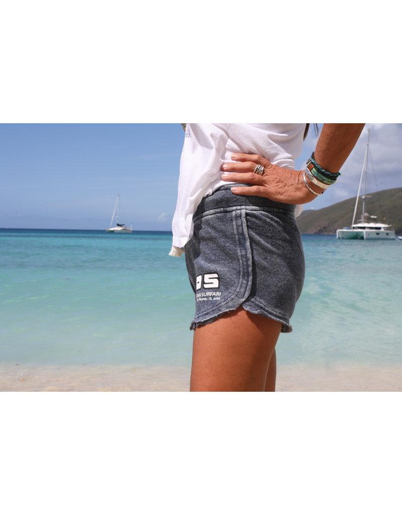 Ocean Surfari Ladies Burnout Short Deep Navy