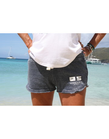 Ocean Surfari Ladies Burnout Short Deep Navy