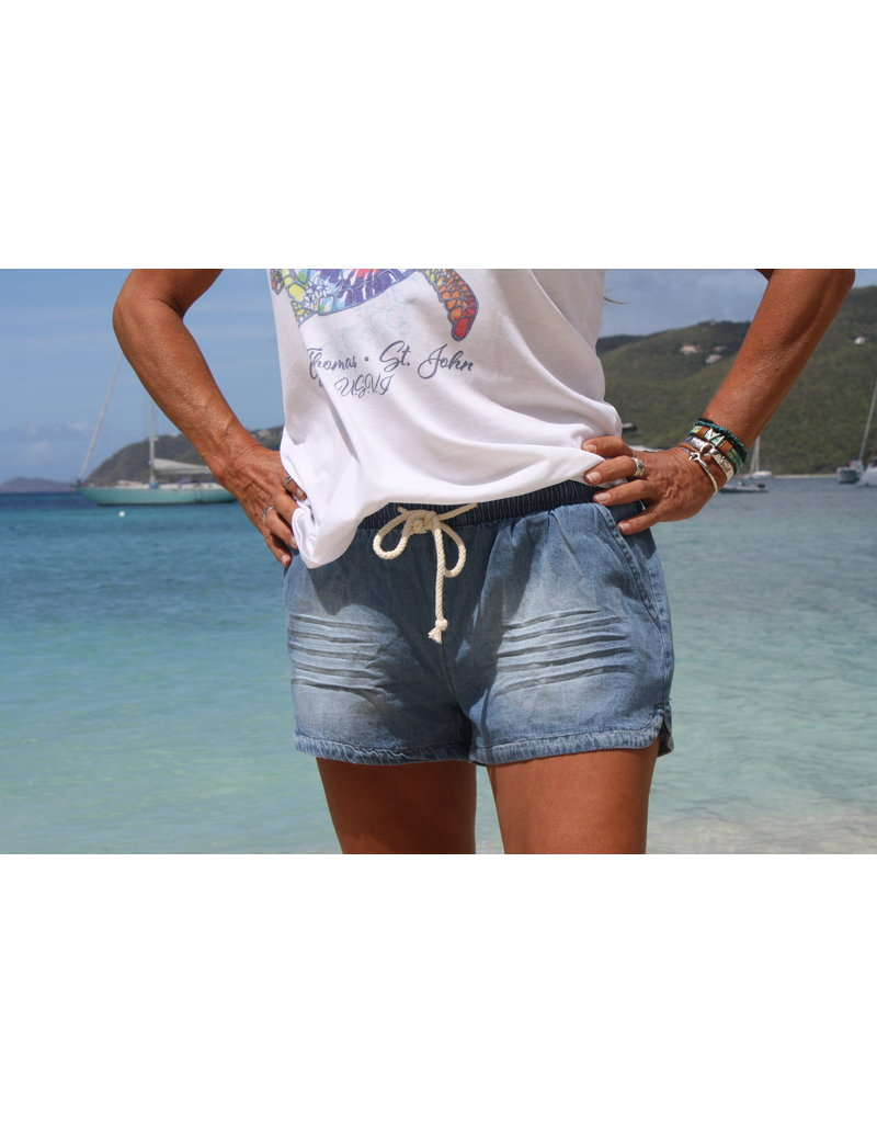 Ocean Drive Copy of Fashion Short Jasmine Tropical Print