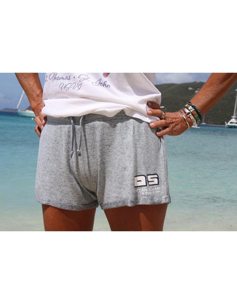 Ocean Surfari Ladies Hacci Fleece Shorts HT Blue