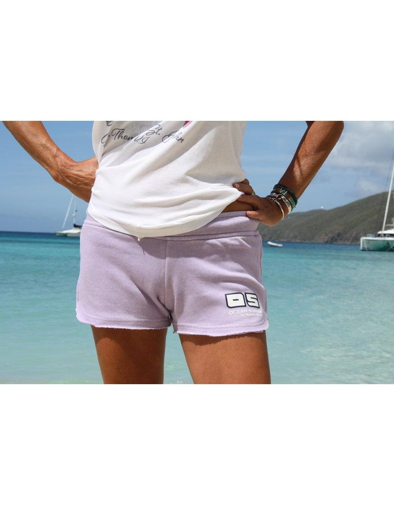 Ocean Surfari Ladies Burnout Short Surf Lavender