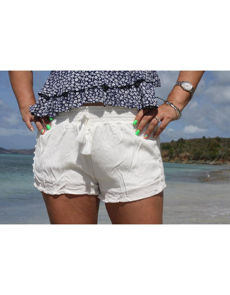 Ocean Drive Fashion Short White Crochet