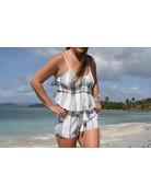Ocean Drive Fashion Short Lilac Summer Stripe