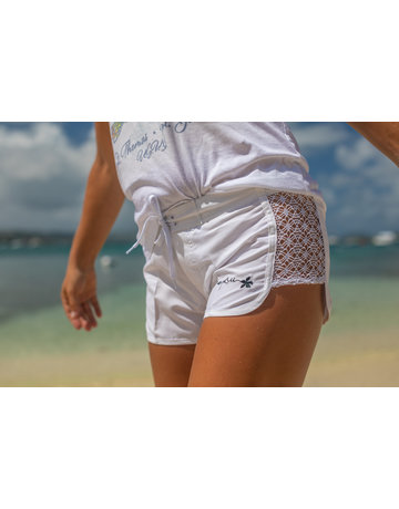 RS Open Side Lace Short WHITE