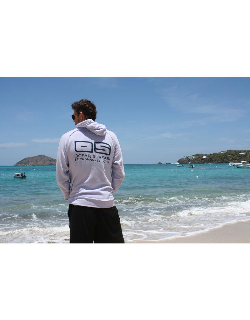 Ocean Surfari Burnout P/O Hoodie Perry Blue
