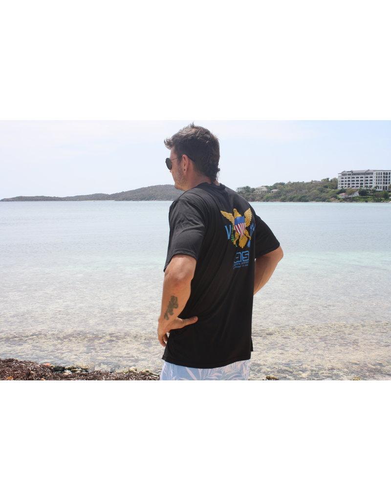 Ocean Surfari OS SPF 50+ Performance Men's SS VI Black Flag