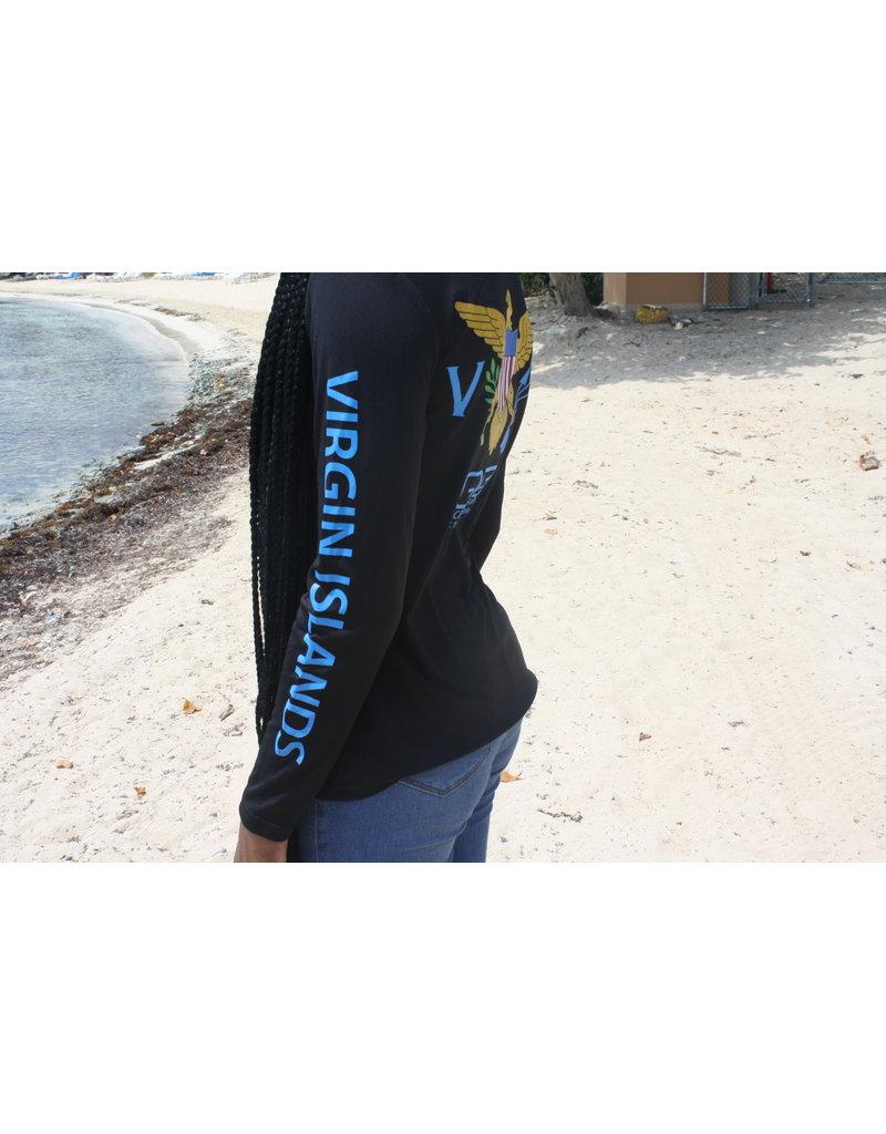 Ocean Surfari OS SPF 50+ Performance Lad LS VI Flag Black