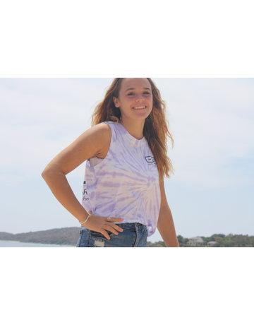 Ocean Surfari Ladies Jersey Cut Rib Tank Lilac Swirl