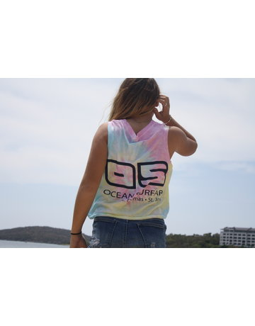 Ocean Surfari Ladies Jersey Cut Rib Tank Sunshine Swirl