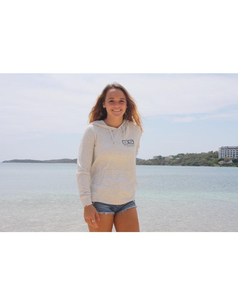 Ocean Surfari Ladies Brushed Hacci Side Slip Hoodie Oatmeal