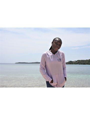 Ocean Surfari Ladies Brushed Hacci Side Slip Hoodie Lilac