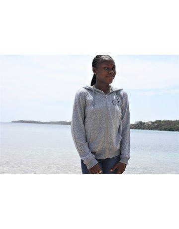 Ocean Surfari Ladies Brushed Hacci Zip Hoodie Blue
