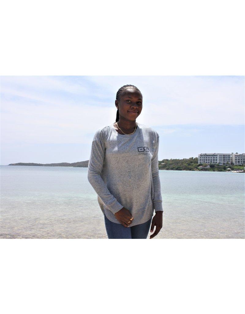 Ocean Surfari Ladies Hacci Crewneck Blue