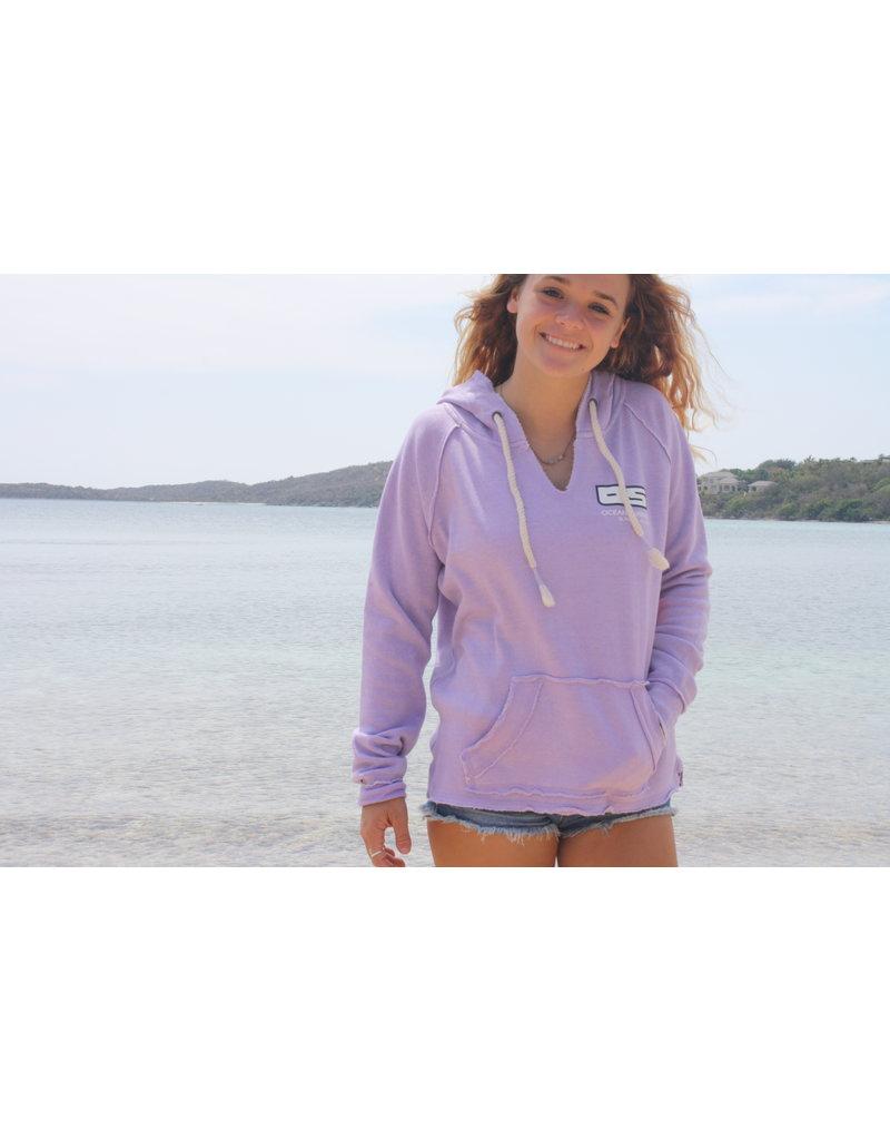 Ocean Surfari Ladies Burnout P/O Hoodie Surf Lavender