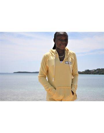 Ocean Surfari Ladies Burnout P/O Hoodie Butter