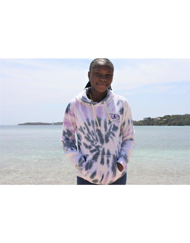 Ocean Surfari Ladies Tie Dye Burnout Hoodie Cali Swirl